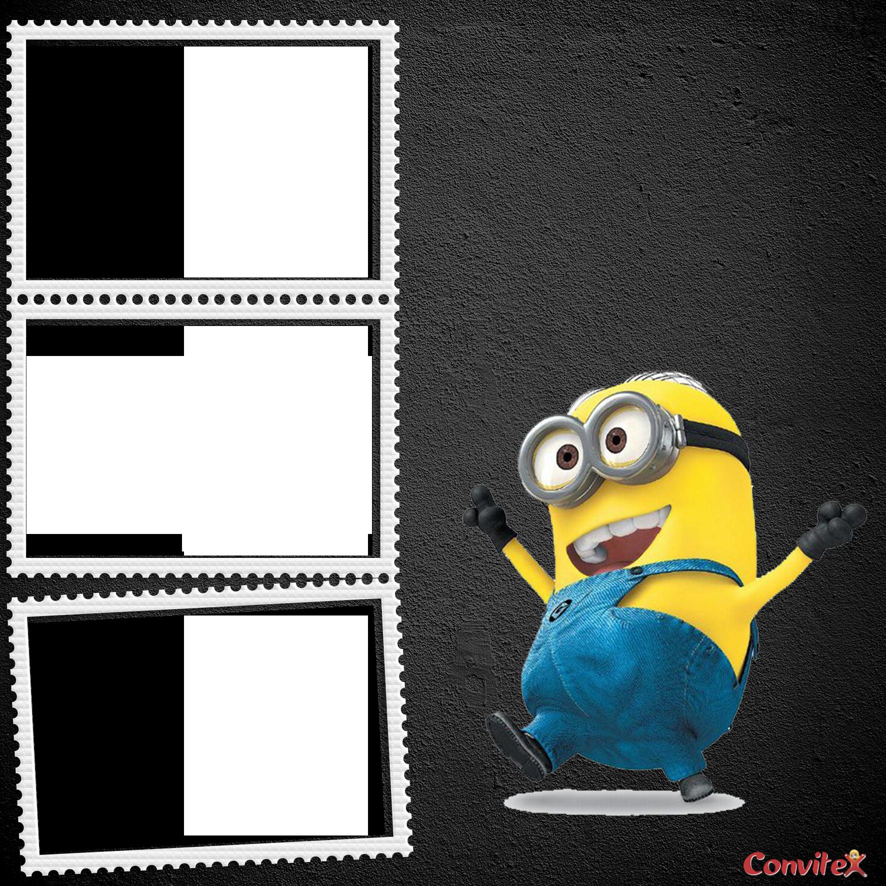 convite minions Com Foto