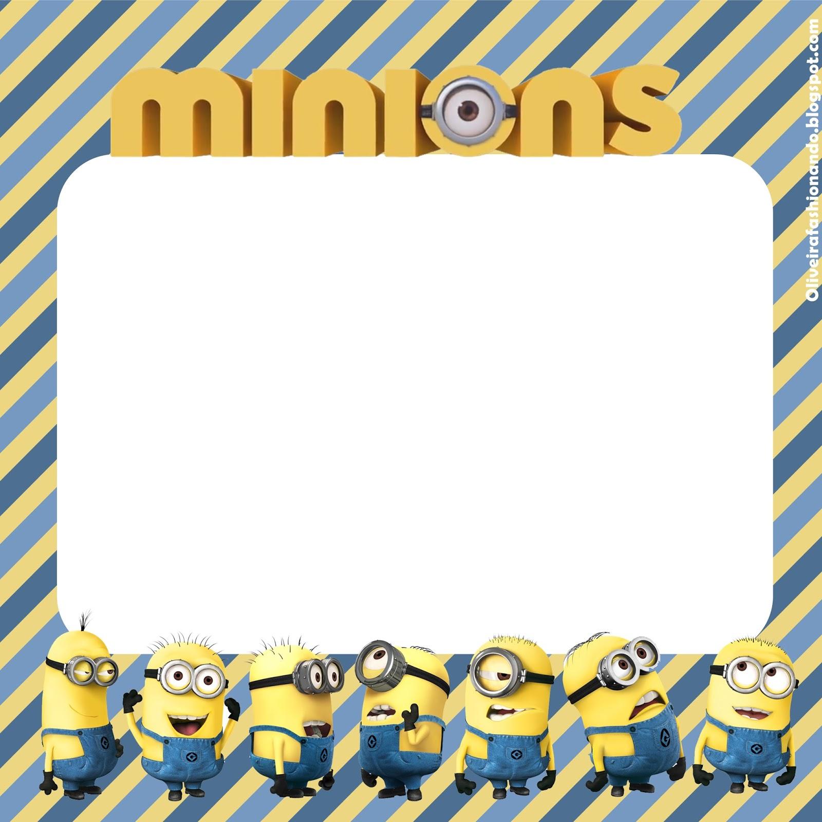 convite minions Para Editar