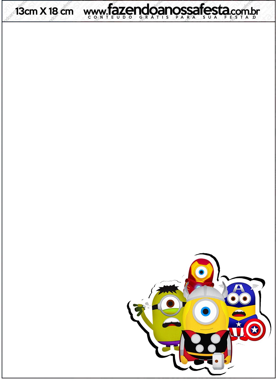convite minions Virtual