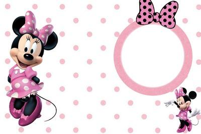 convite minnie rosa Com Foto