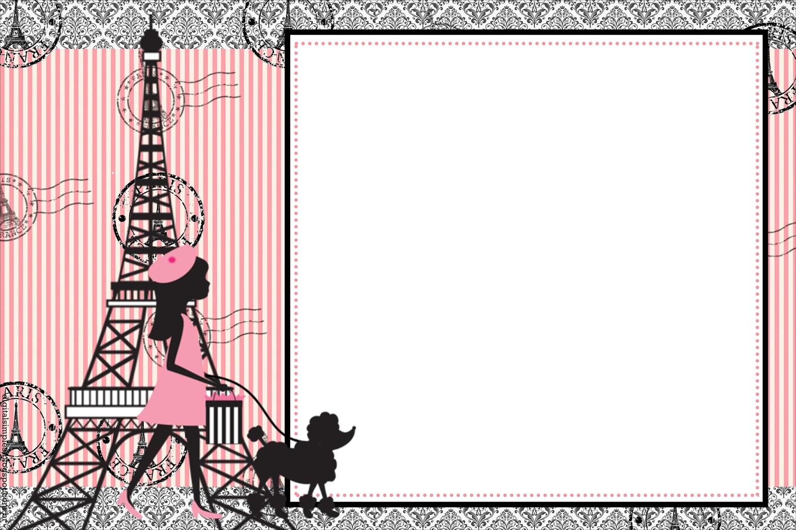 convite paris Para Editar