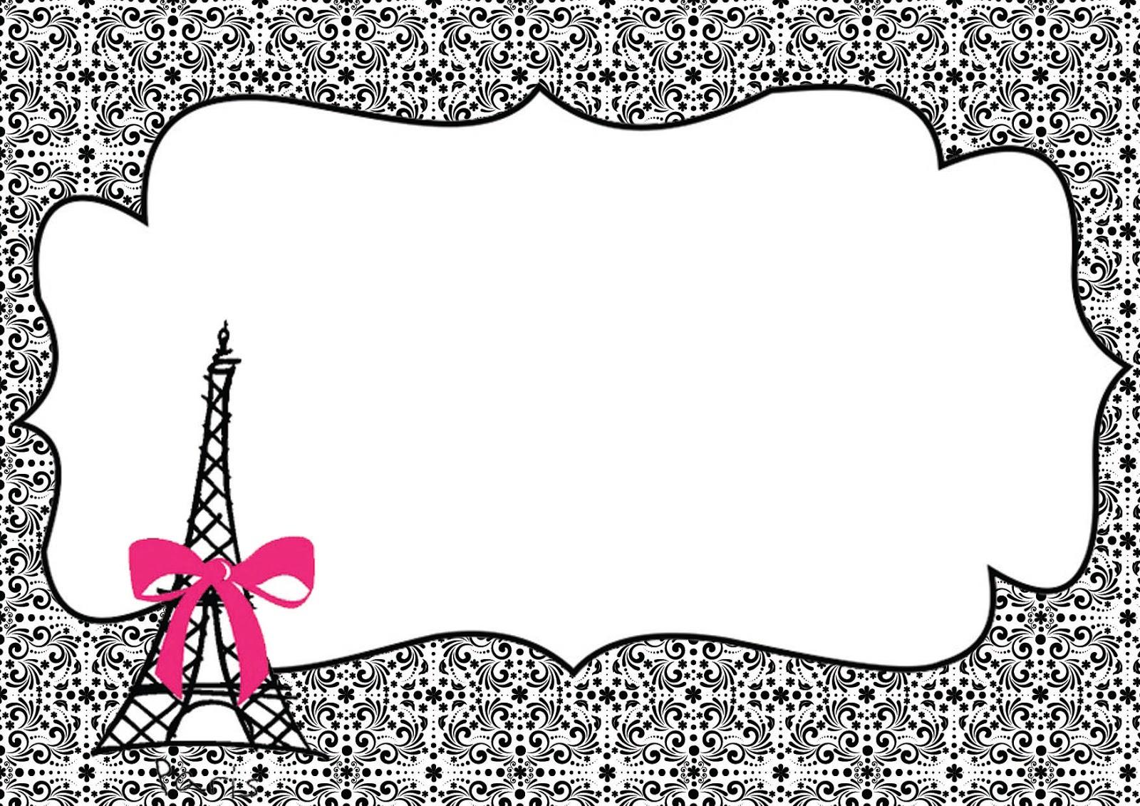 Convite Paris 40 Modelos Lindos Para Voce