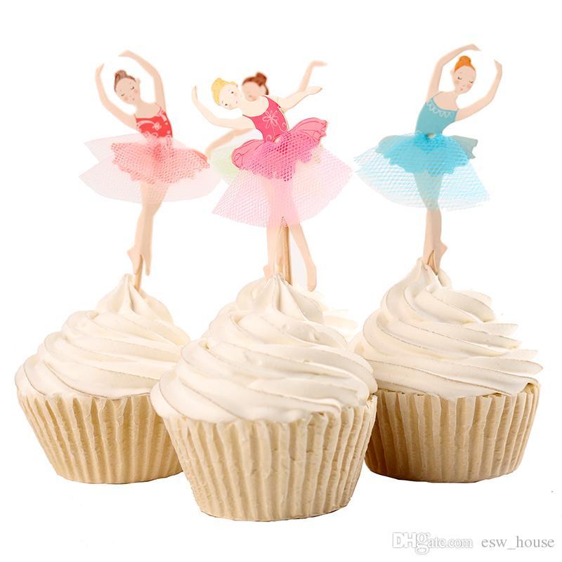 cupcake de bailarina Com Topo