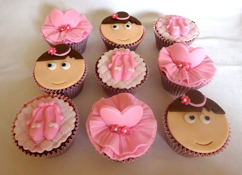 cupcake de bailarina Pasta Americana