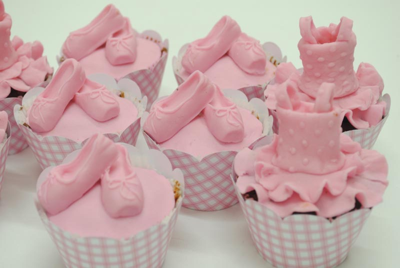 cupcake de bailarina Rosa