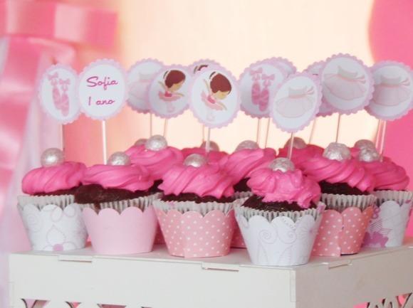 cupcake de bailarina Simples