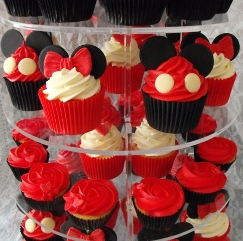 Cupcake Mickey com Minnie