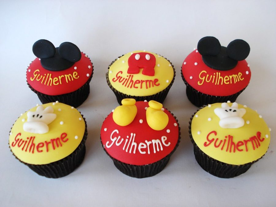 Cupcake Mickey Pasta americana
