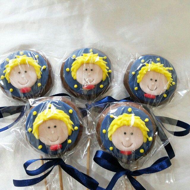 Cupcake Pequeno Príncipe Pirulito