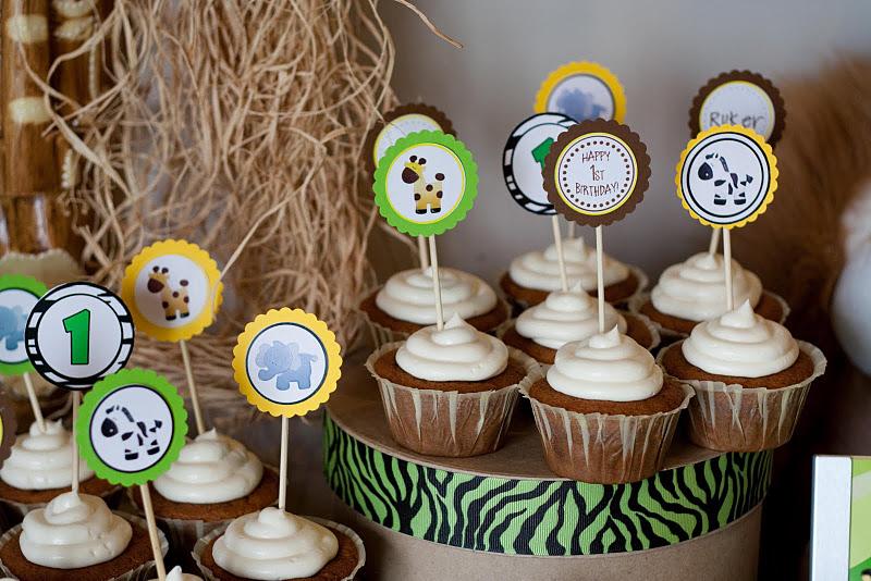 Cupcake Safari Simples