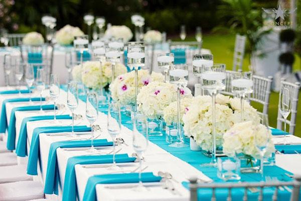 decoracao de casamento Azul