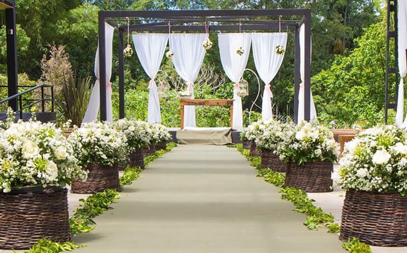 decoracao de casamento Em Chácara