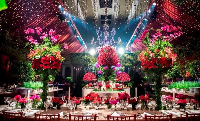 decoracao de casamento Marsala