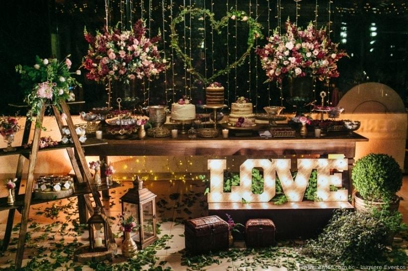 decoracao de casamento Rústico