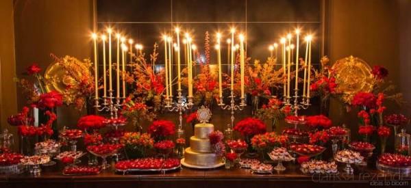decoracao de casamento Vermelho