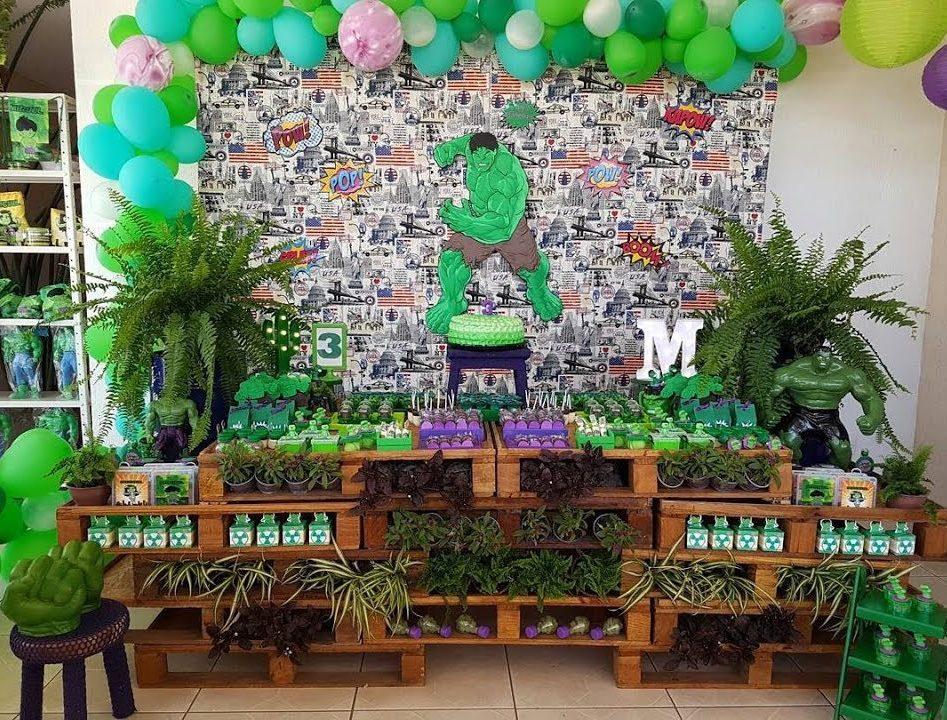 festa infantil Do Incrível Hulk