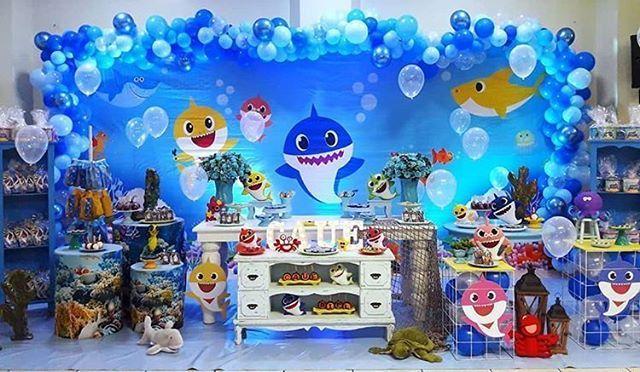 festa baby shark Luxo