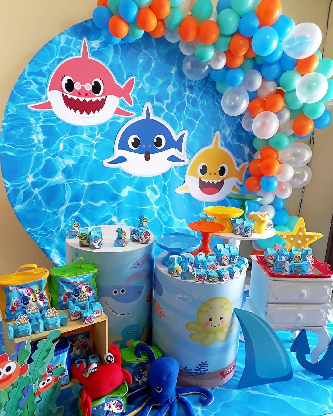festa baby shark Masculina