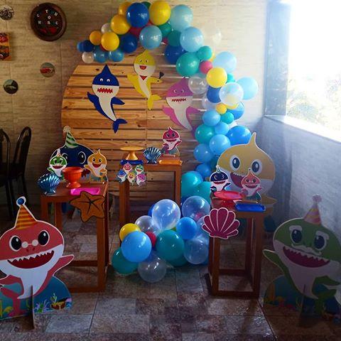 festa baby shark Simples