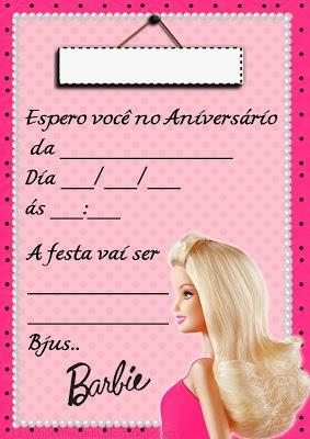 festa barbie Convite