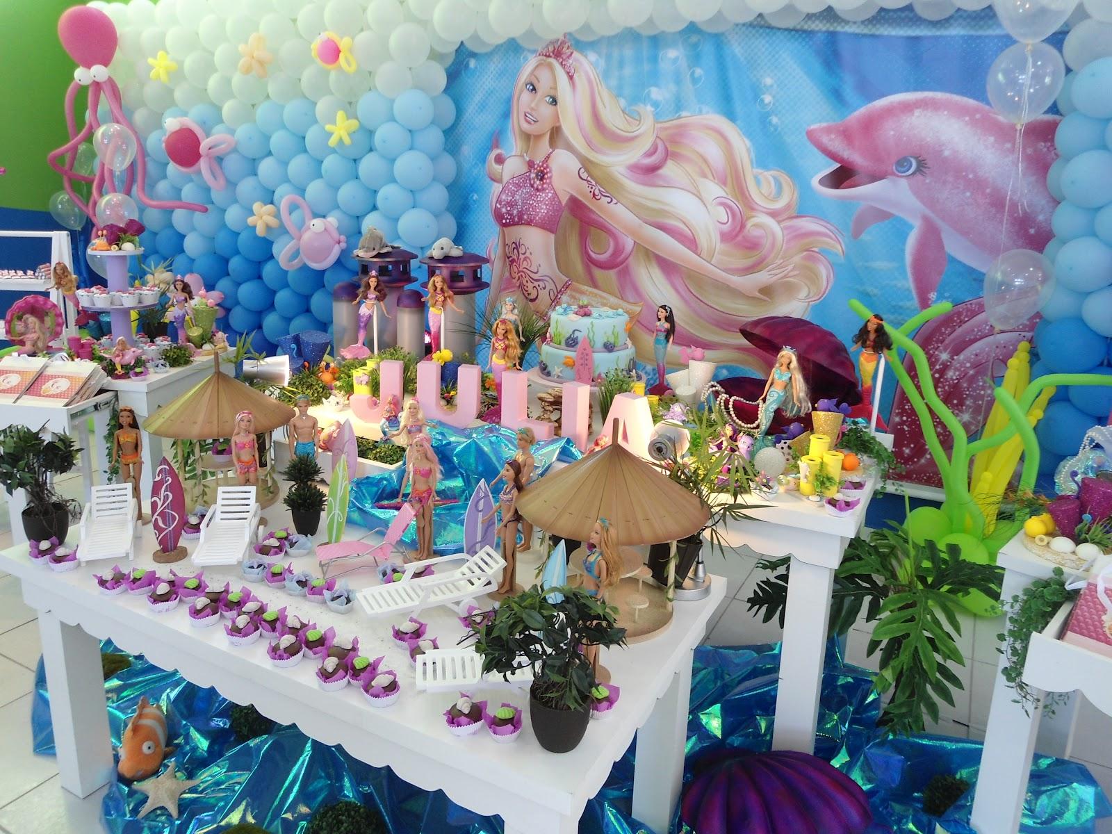 festa barbie Sereia