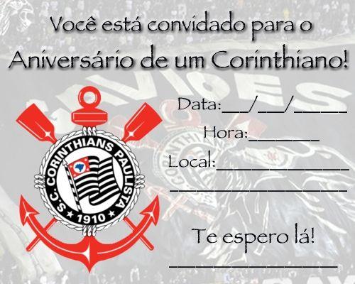 festa corinthians Convite