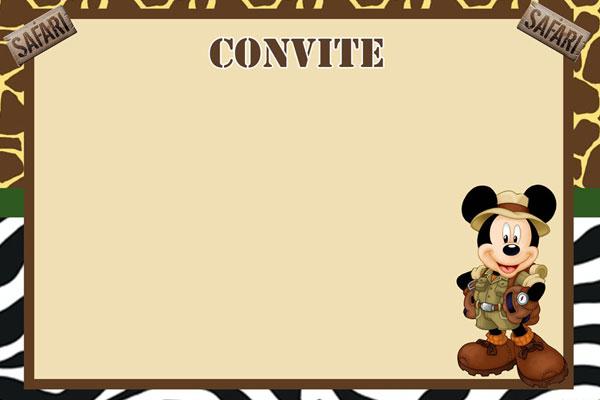 festa do mickey Convite