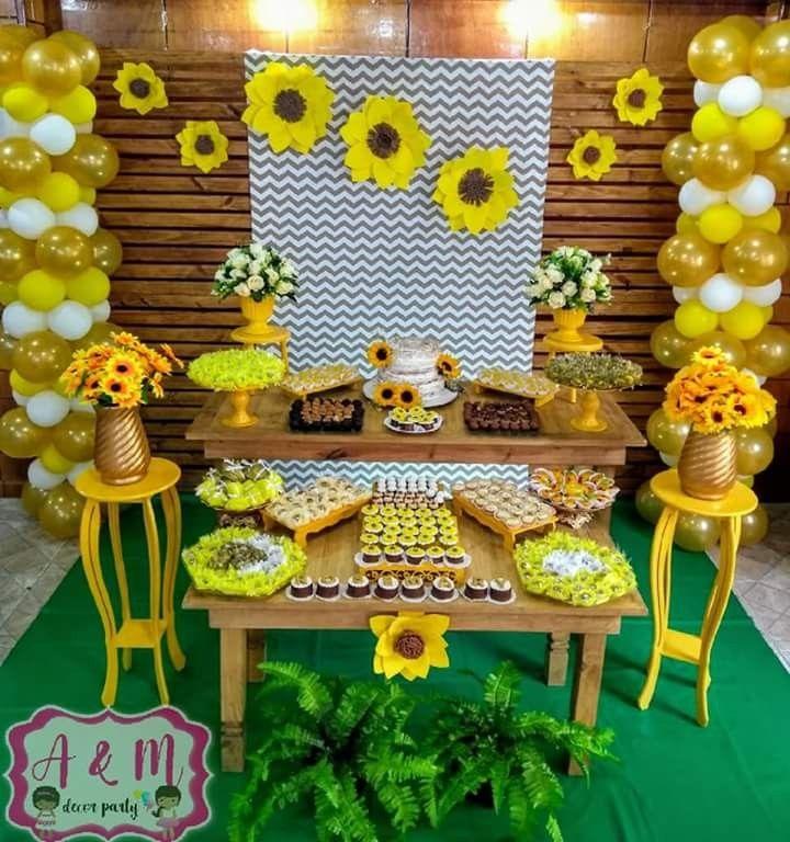 festa girassol Simples