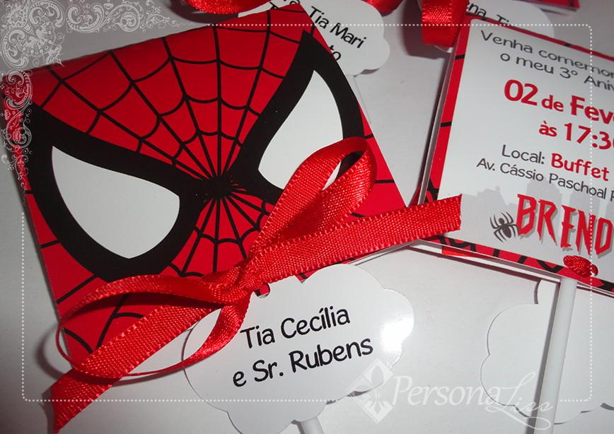 festa homem aranha Convite
