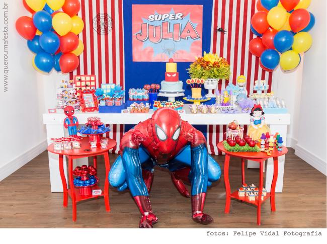 festa homem aranha Feminina