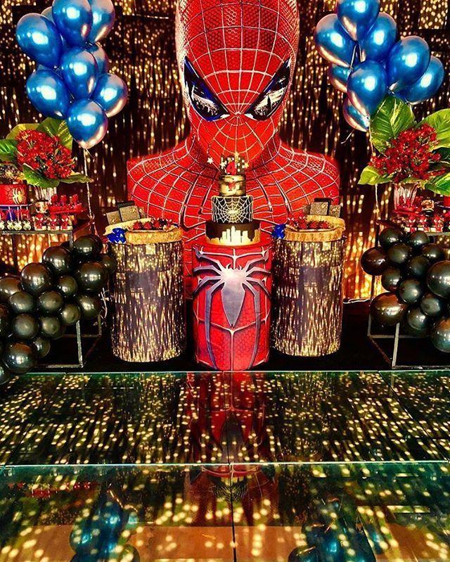 festa homem aranha Luxo