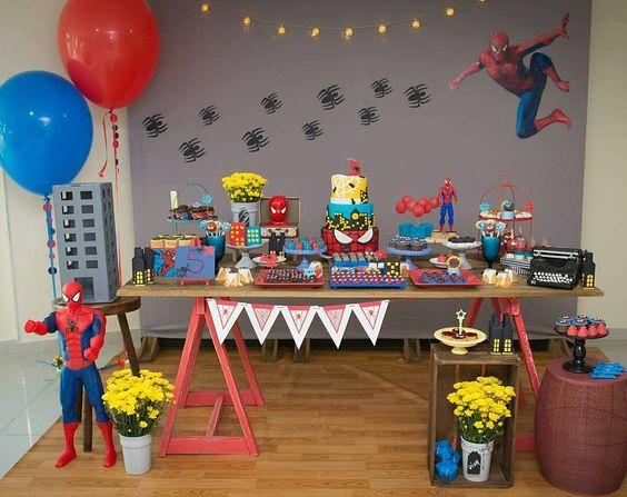 festa homem aranha Simples