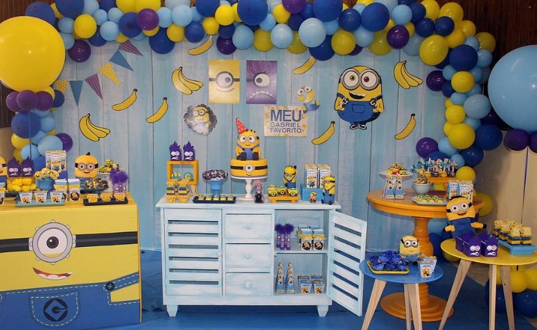 festa minions Azul