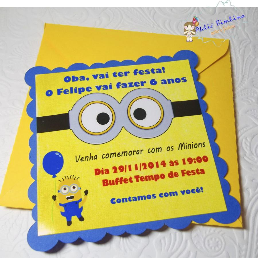festa minions Convite
