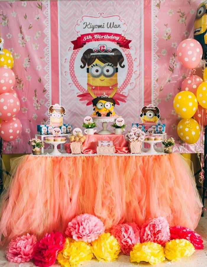 festa minions Rosa