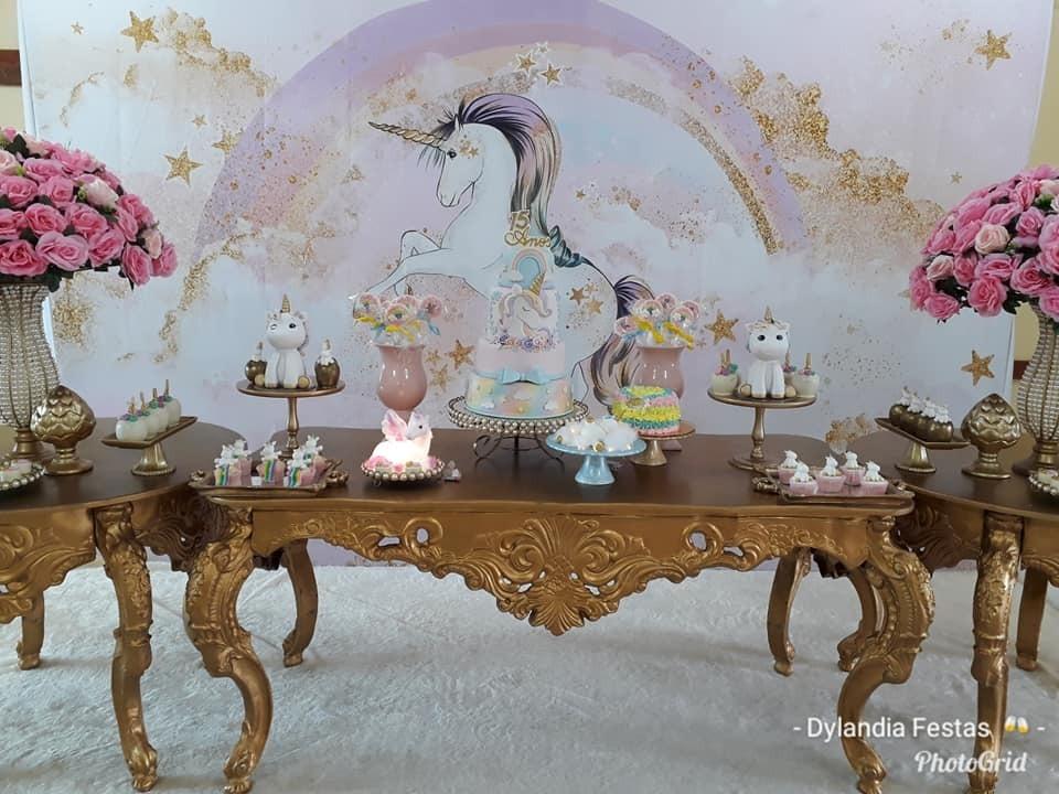 festa unicornio Luxo