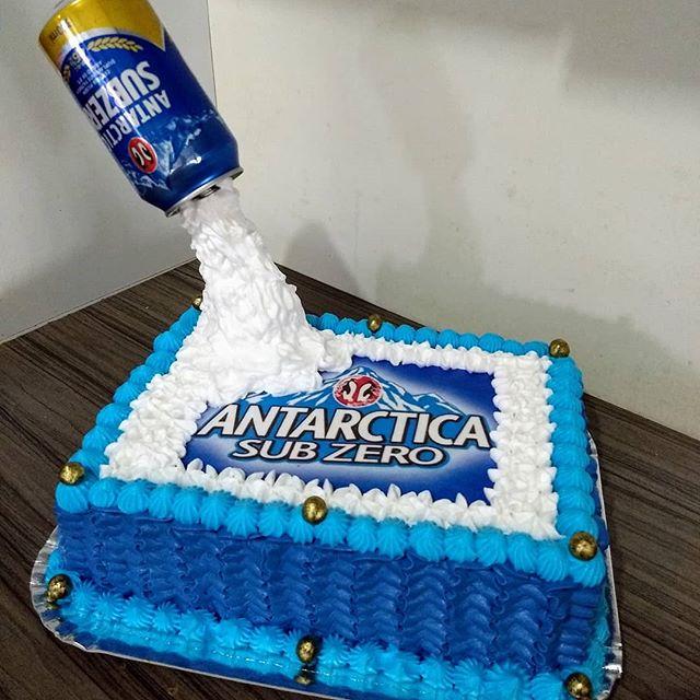 bolo antarctica Quadrado