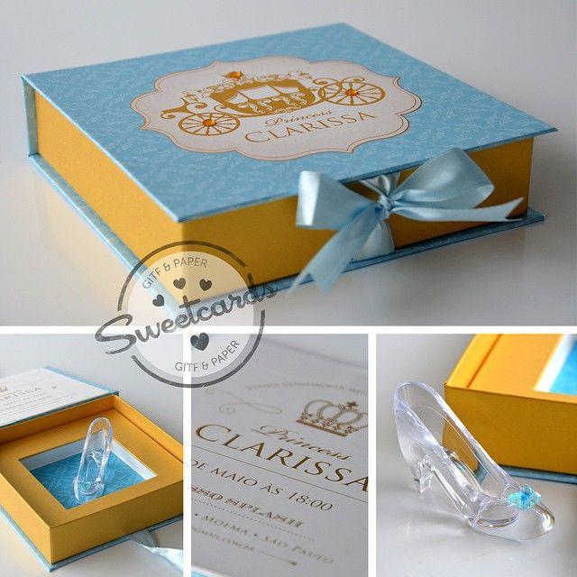 convite cinderela Luxo