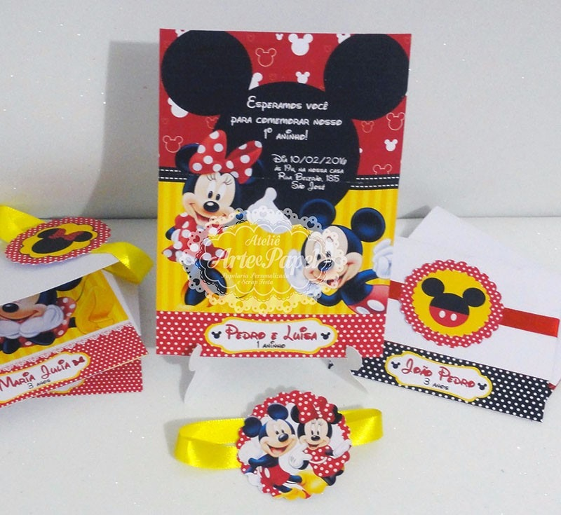 convite da minnie E Mickey