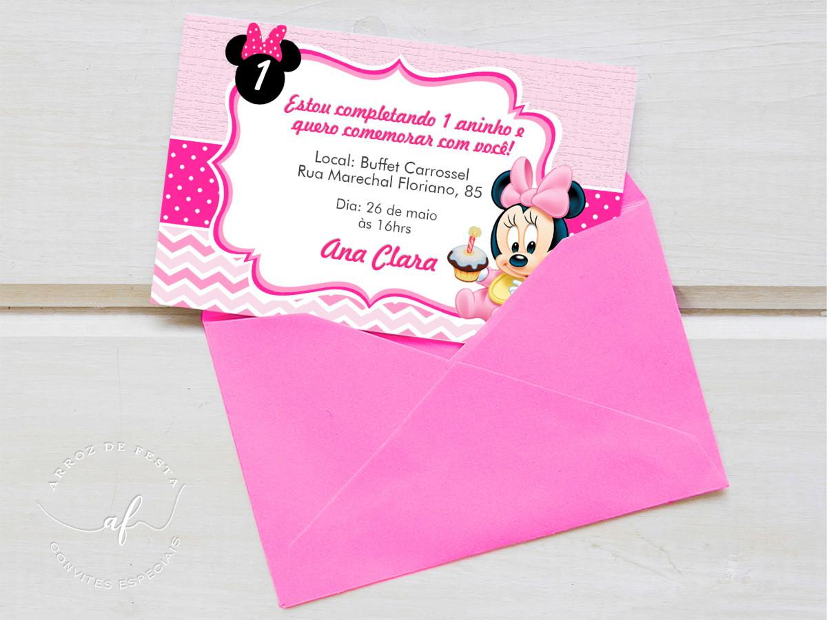 convite da minnie Simples