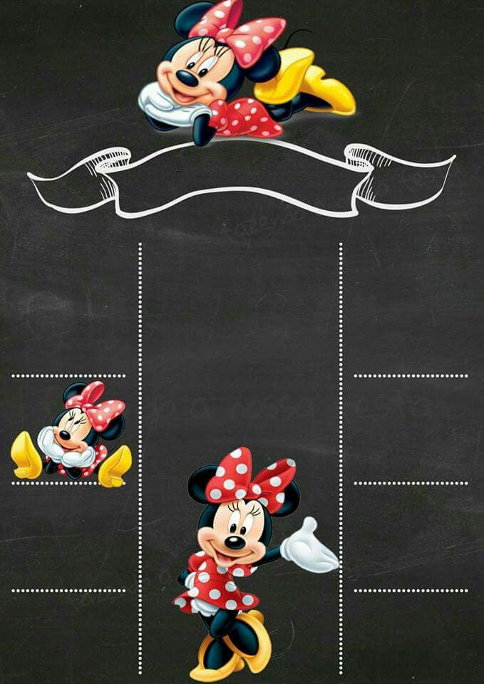 convite da minnie Virtual