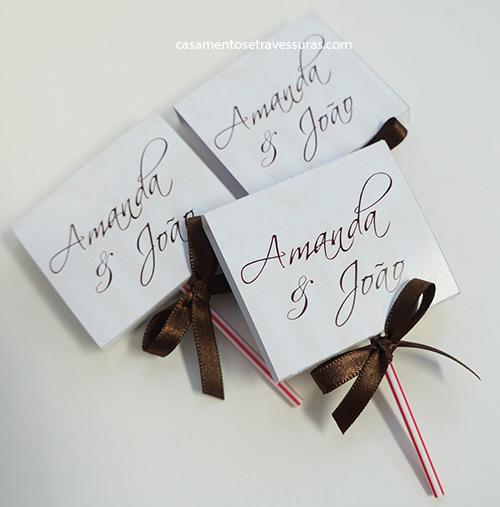 convite de noivado Criativo
