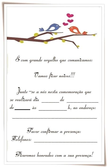 convite de noivado Online