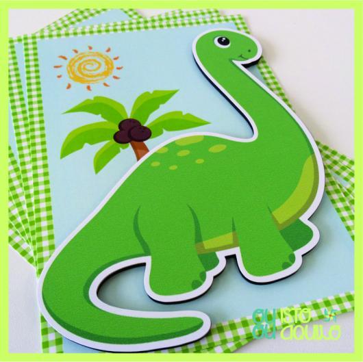 convite dinossauro Baby
