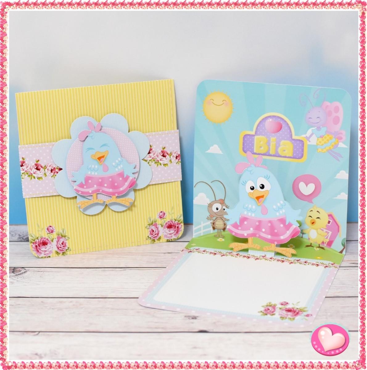 convite galinha pintadinha Candy Colors
