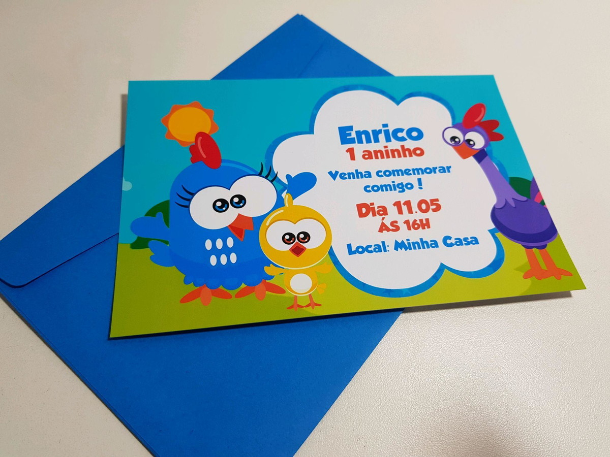 convite galinha pintadinha Mini