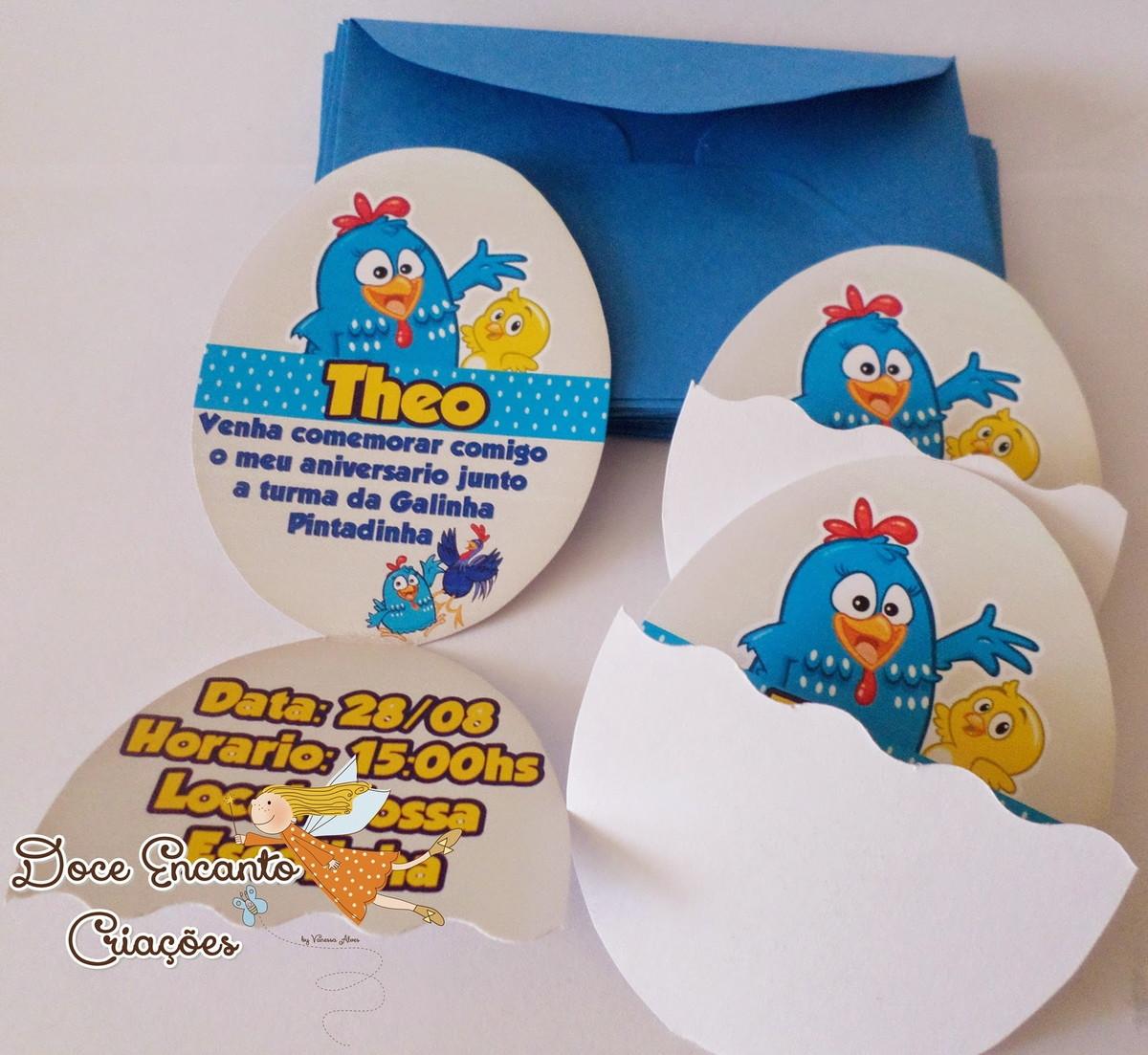 convite galinha pintadinha Ovo