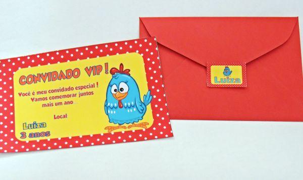 convite galinha pintadinha Simples