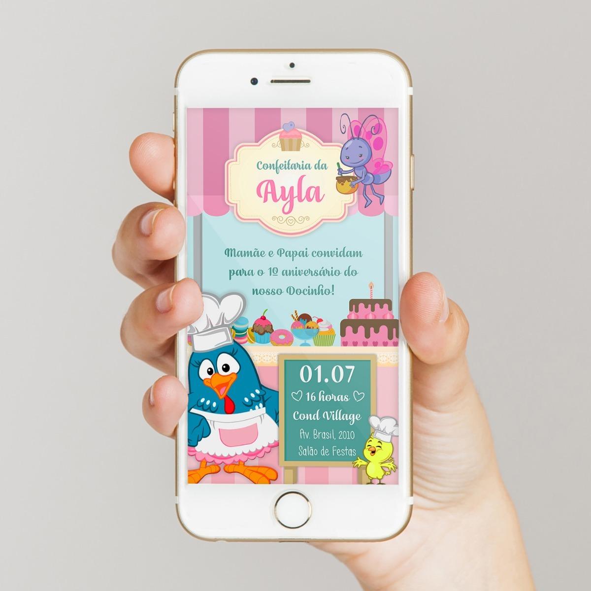 convite galinha pintadinha Virtual
