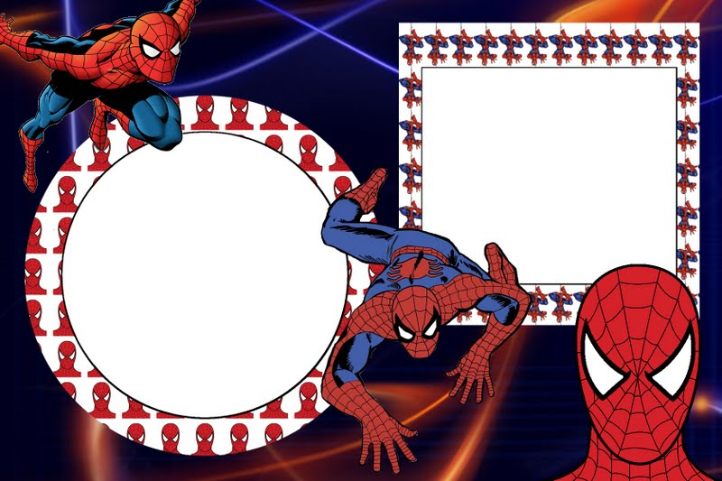 Convite Homem-Aranha Com Foto